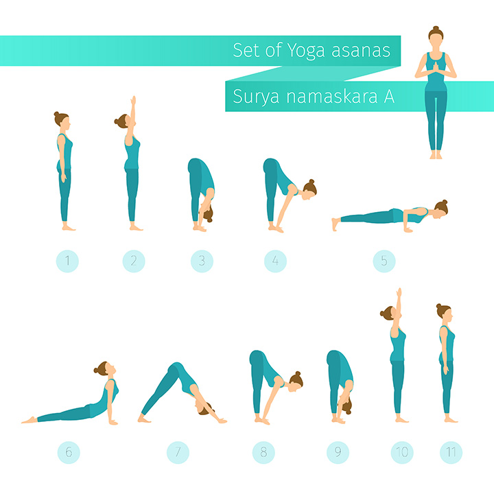 surya namaskar morning