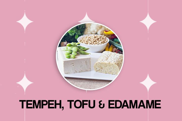 tofu tempeh and edamame