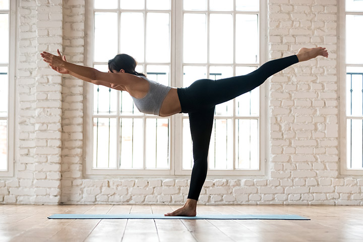 warrior 3 pose morning yoga