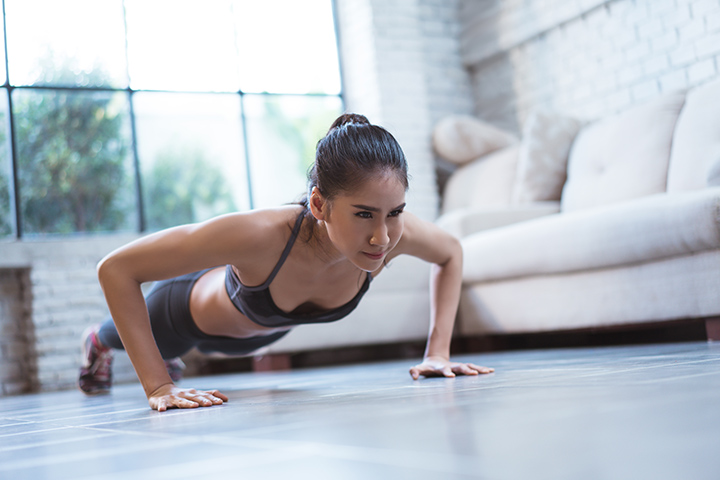 Push ups for sagging breasts