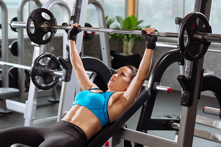barbell bench press for breast lift