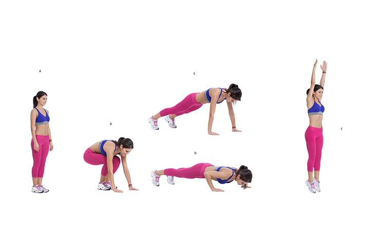burpees exercise for thigh fat
