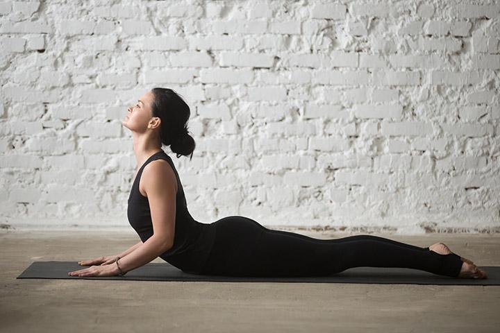cobra pose for sagging breast lift