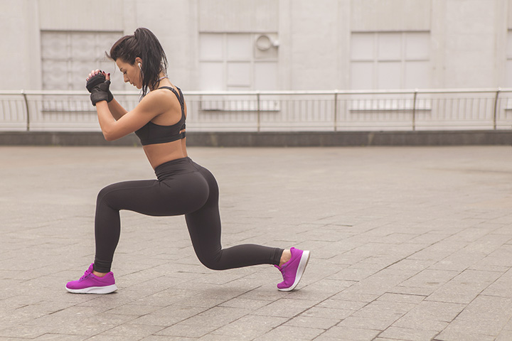 forward lunges for thigh fat