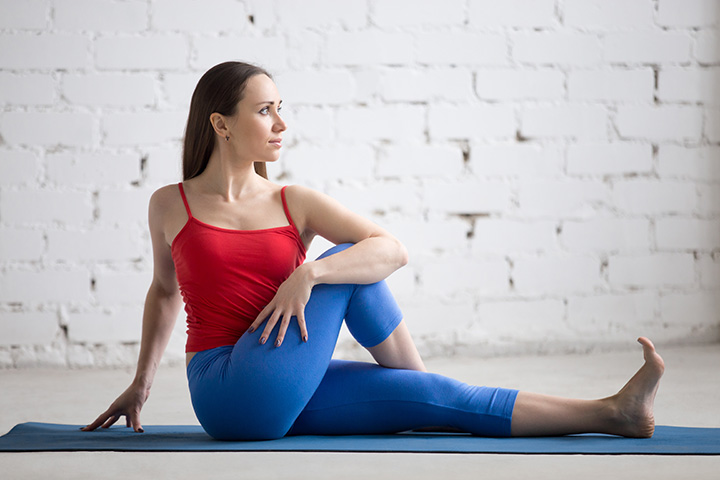 half spinal twist pose for hip pain