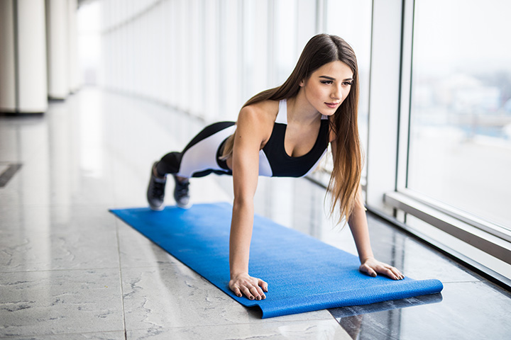 lateral plank walk for sagging breasts