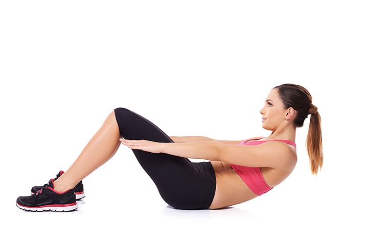 partial sit ups for flat stomach