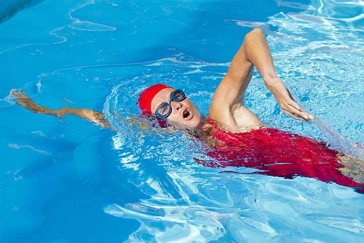 swimming for breast enlargement