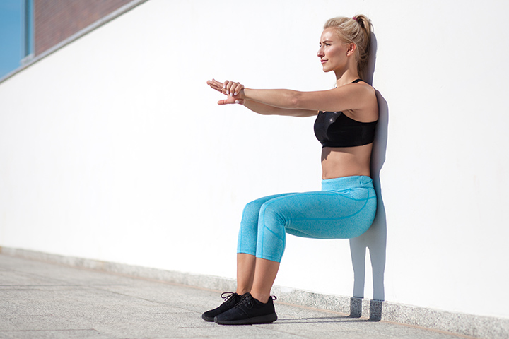 wall sits exercise for thigh fat