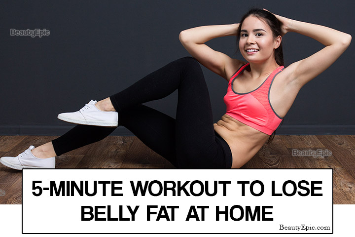 5 Minute Workout to Lose Belly Fat at Home