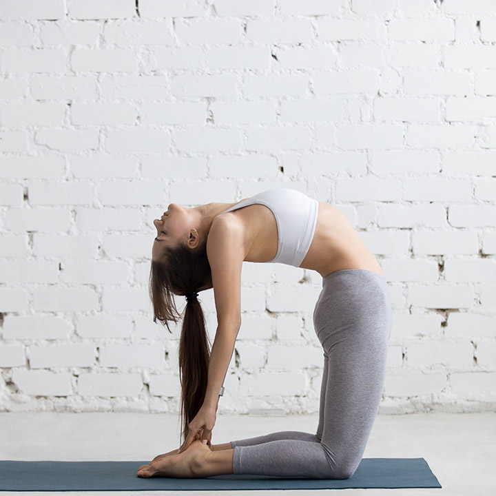 camel pose for scoliosis