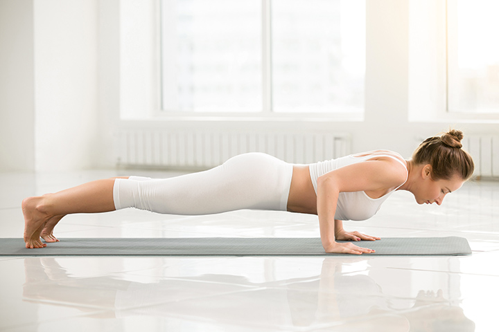 chaturanga dandasana for scoliosis