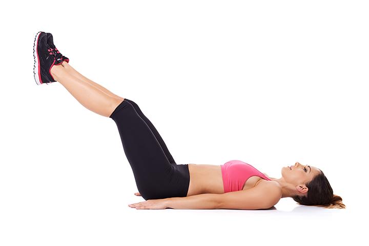 raised leg pose for inguinal hernia