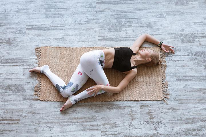 supine twist to combat fatigue