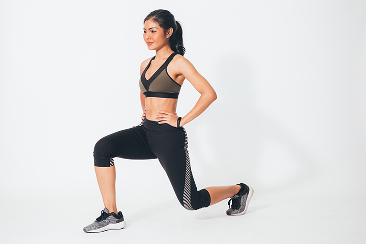 lunges for toned thighs