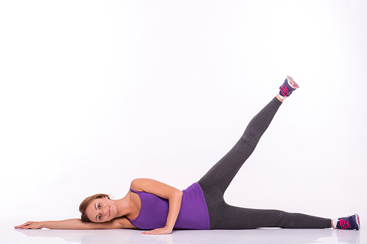 lying side leg raises exercise