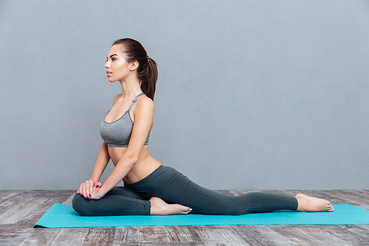 pigeon pose for toned legs