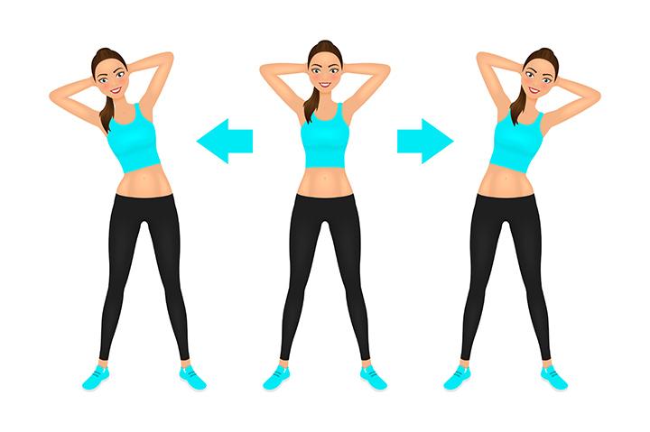 side bends pose for back