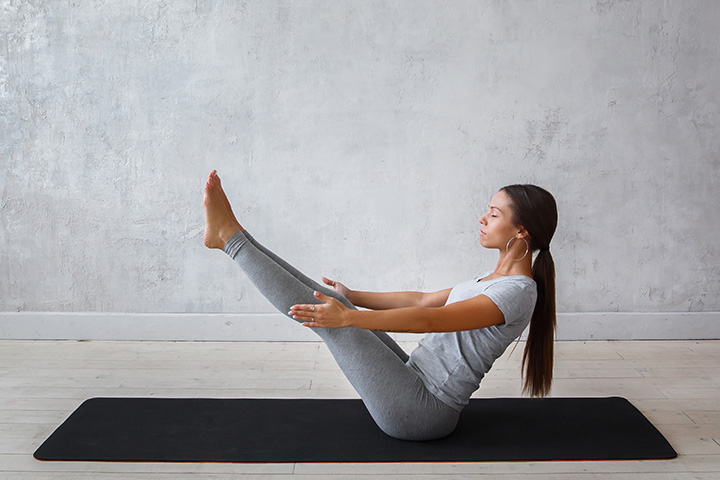 Boat Pose for varicose veins