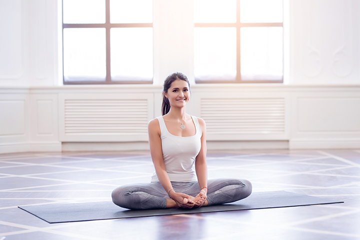 bound angle pose for high blood pressure