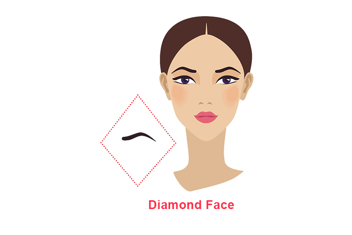 how to shape eyebrows for diamond face