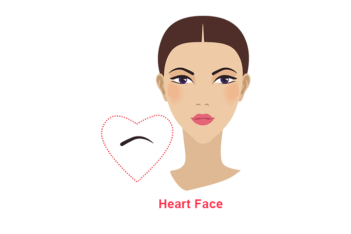 how to shape eyebrows for heart shaped face