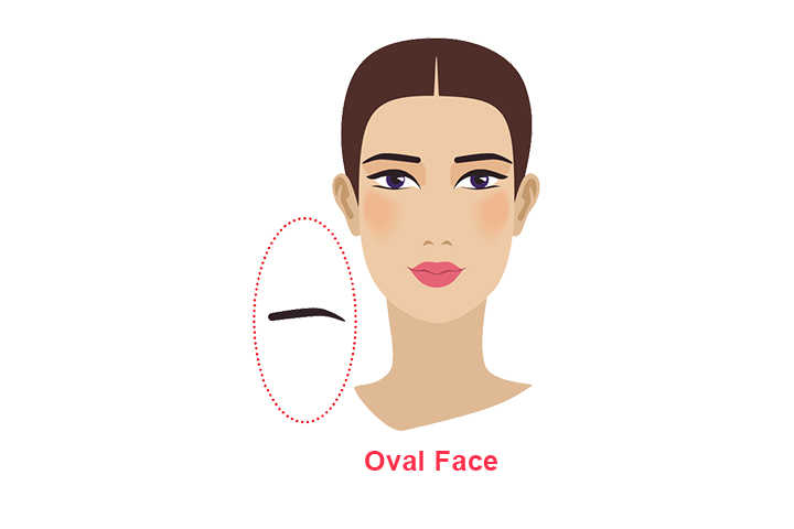 how to shape eyebrows for oval face
