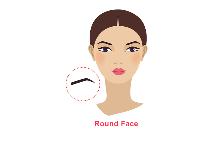 how to shape eyebrows for round face
