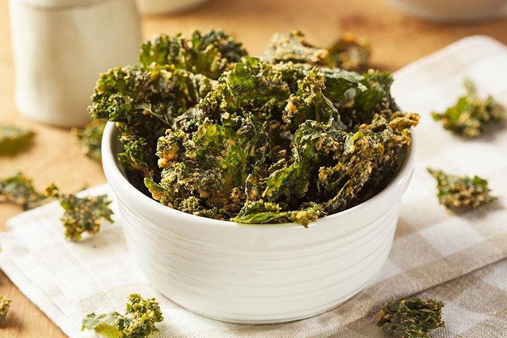 low carb baked kale chips