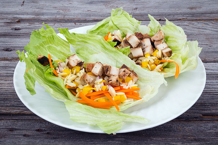 low carb greek chicken lettuce wraps