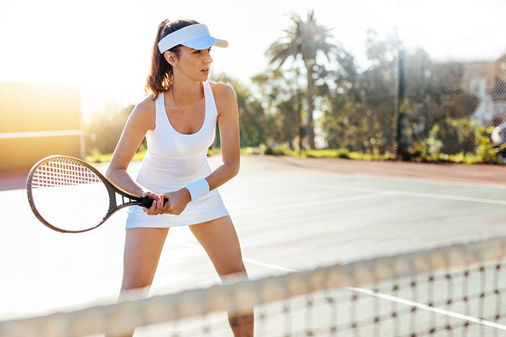 playing tennis or racquetball  for stress relief