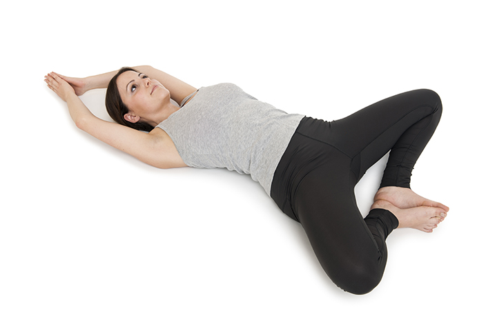reclining bound angle for acid reflux