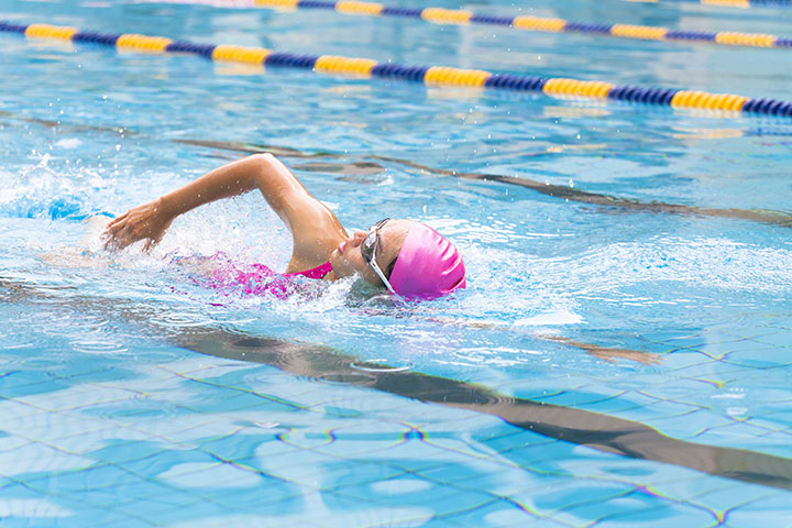 swimming or water aerobics for stress relief