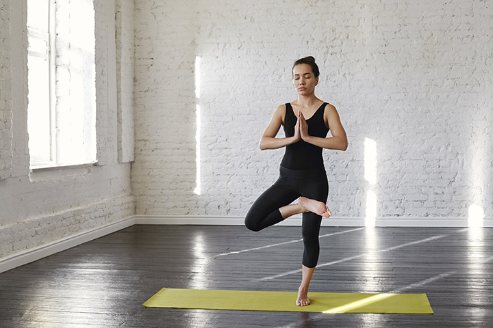 tree pose for runners