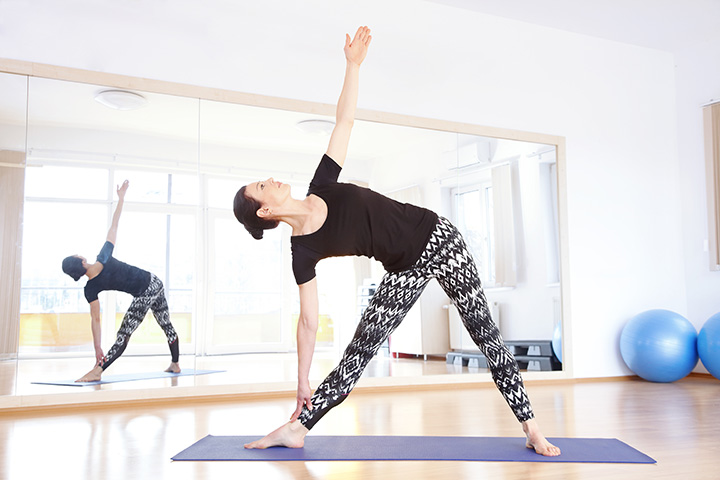 triangle pose for IBS