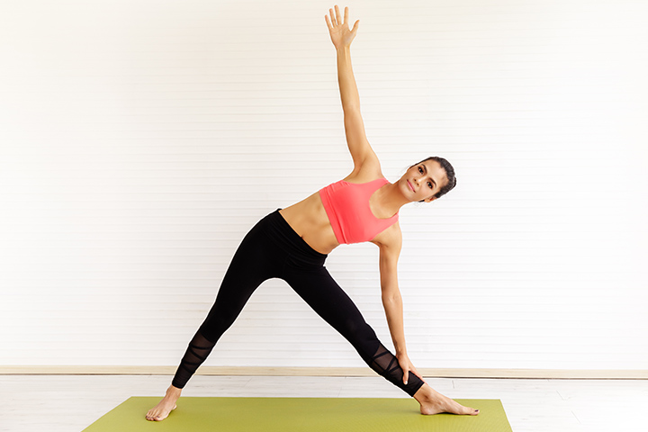 triangle pose for acid reflux