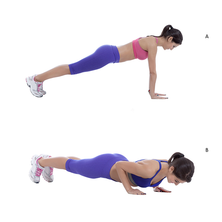 triceps push-ups for toned triceps