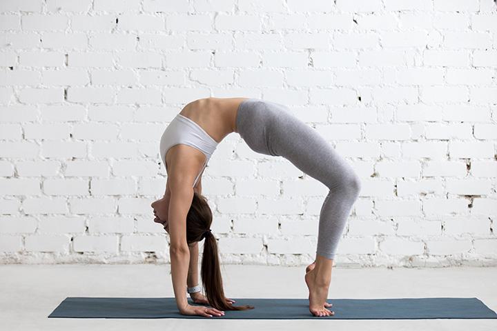wheel pose for hormonal balance