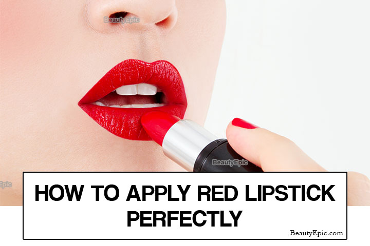 How to Apply Red Lipstick Perfectly – A Step-By-Step Tutorial