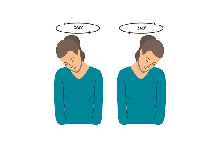neck rotation exercise