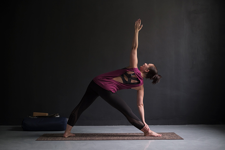 revolved triangle pose for acid reflux