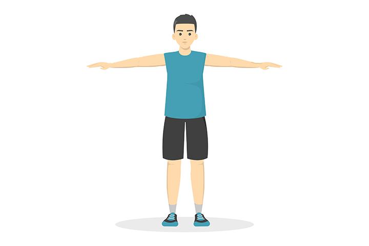 shoulder circles exercise
