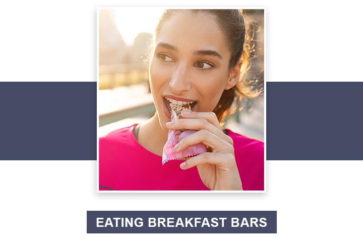 Eating Breakfast Bars