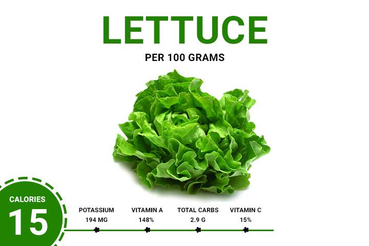 Lettuce Calories 15