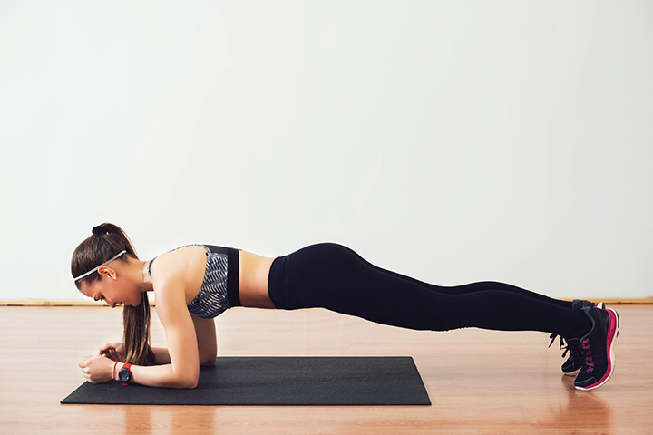 correct posture for plank exercise