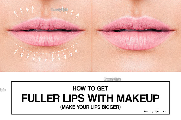How to Get Fuller Lips with Makeup (Make Your Lips BIGGER)