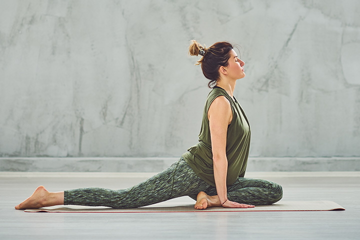 pigeon pose to improve posture
