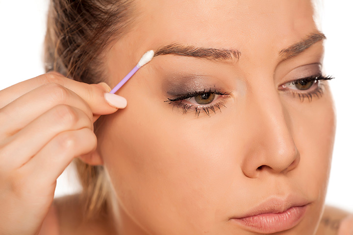 protection for the skin around the eyebrows