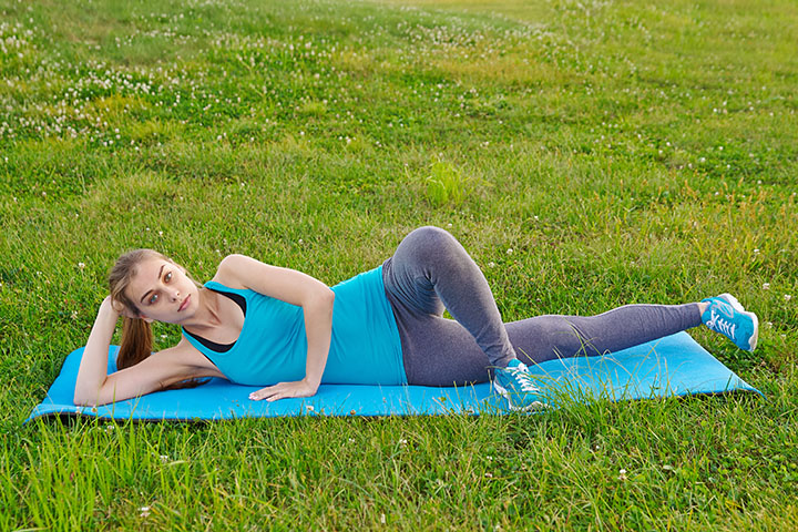 side lying hip adduction for slim thighs