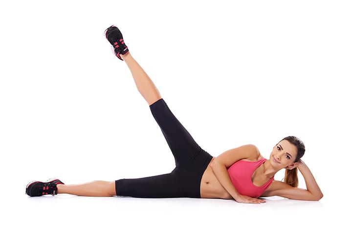 side lying leg lift for slim thighs